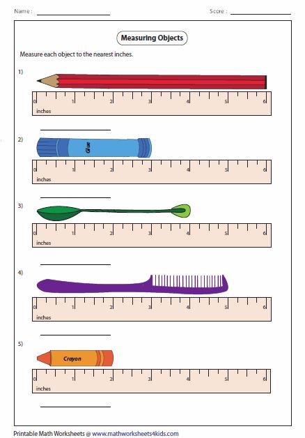 Measuring Inches Worksheet Measuring Length Worksheets