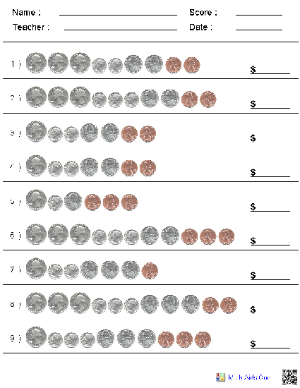 Mesmerizing Free Worksheets Counting Coins About Coin Worksheets