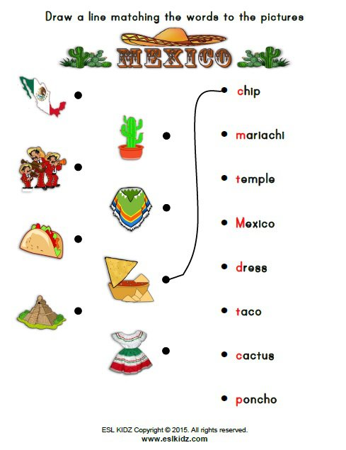 Mexico Worksheets