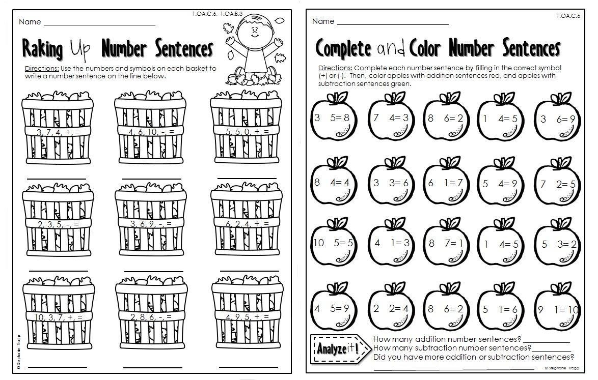 Mogenk Worksheet Page 185 Fall Math 3rd Grade Freebie Free