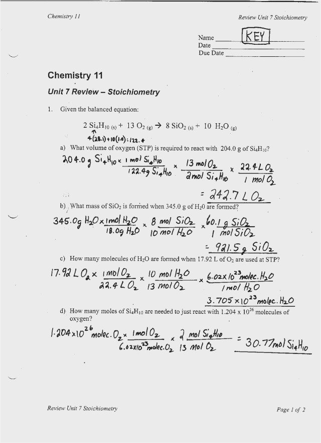 Mole Particle Practice Worksheet &  Inspirational Stoichiometry