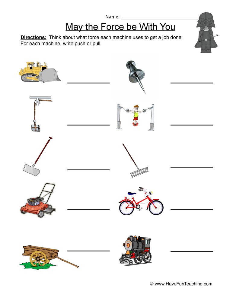 Motion And Forces Worksheets