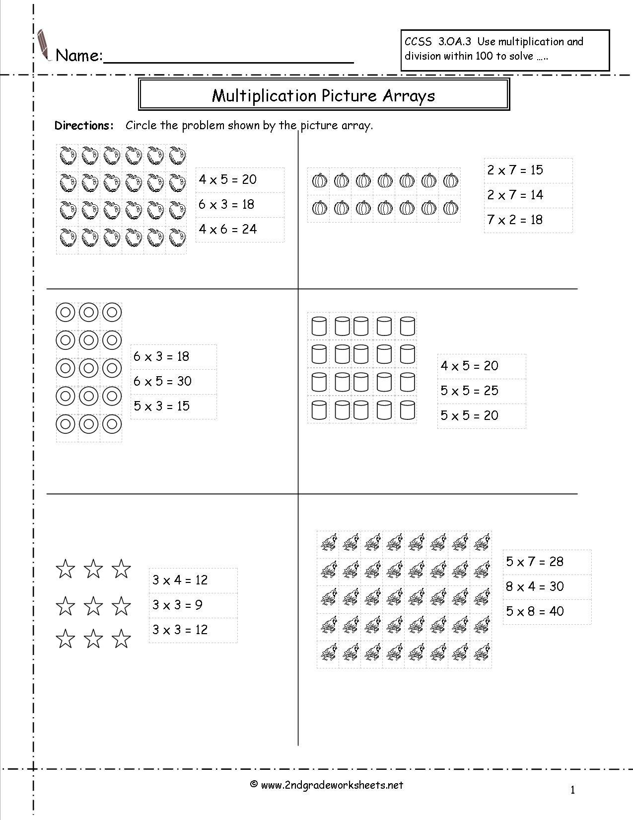Multiplication Array Worksheets Grade 3 The Best Worksheets Image