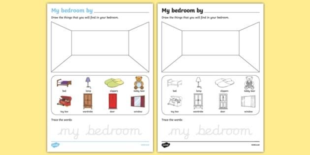 My Bedroom Aistear Follow On Worksheet