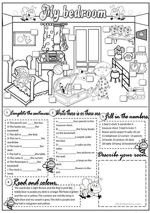 My Bedroom Worksheet