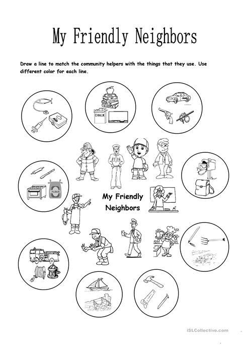 My Friendly Neighbors Worksheet