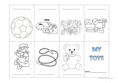 My Toys Mini Book Worksheet