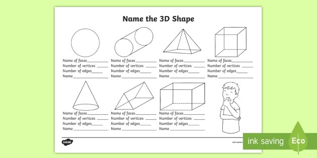 Name The 3d Shape Year 2 Worksheet