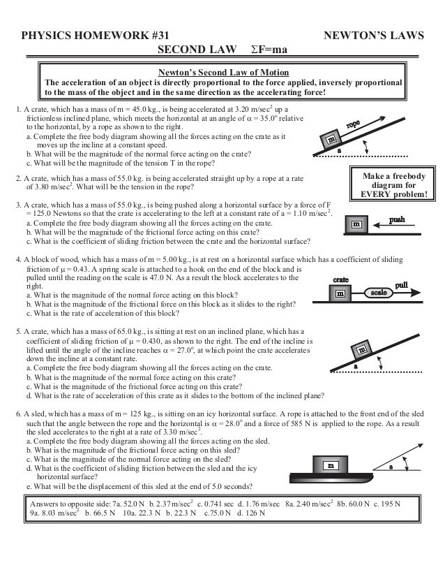Newton's Laws Review Worksheet Answers Worksheet Template Unit 5