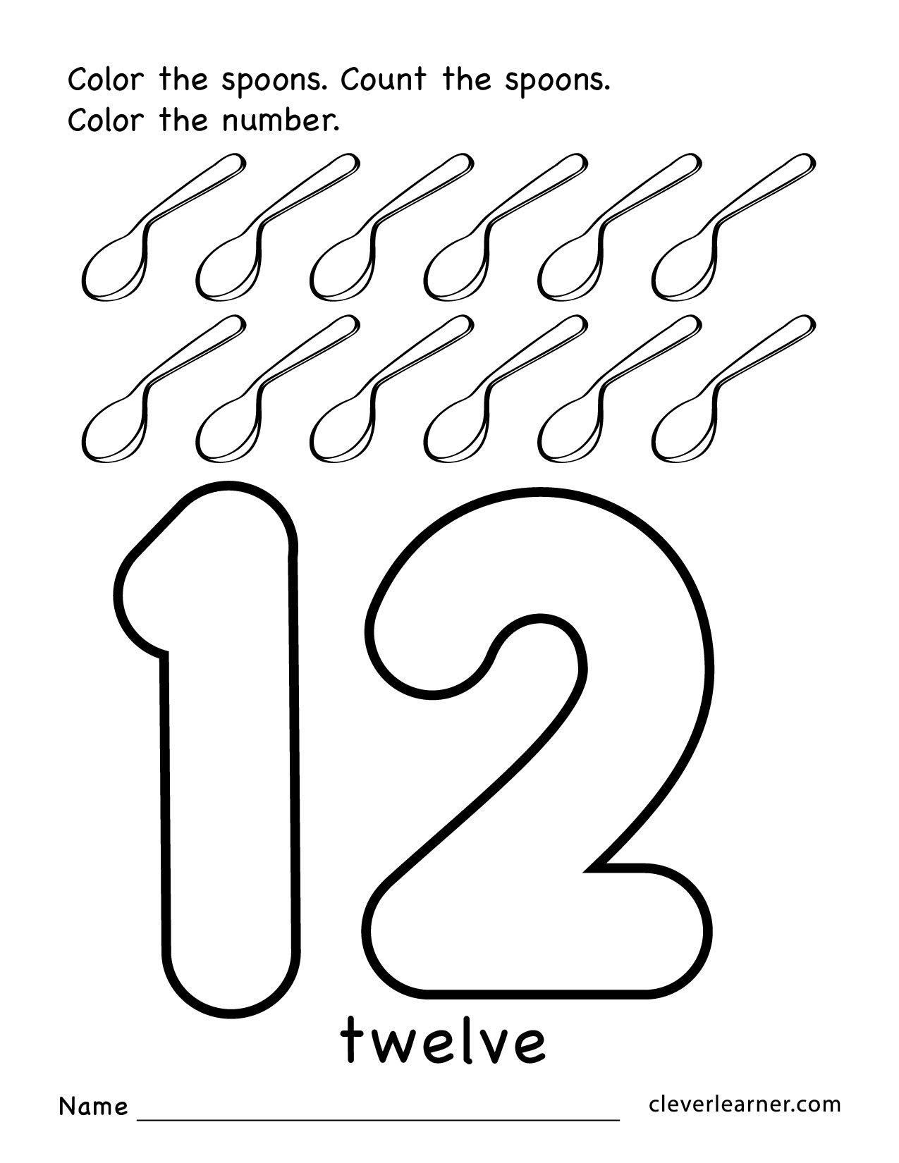 Number 12 Worksheets For Preschoolers The Best Worksheets Image
