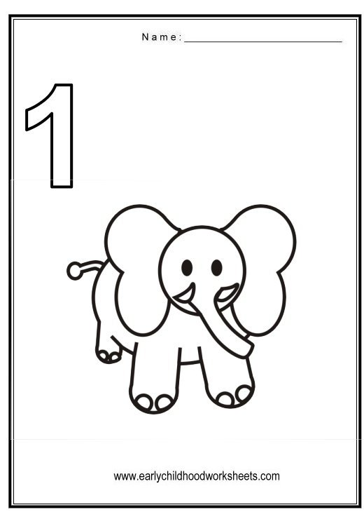 Number 1 Worksheets For Toddlers