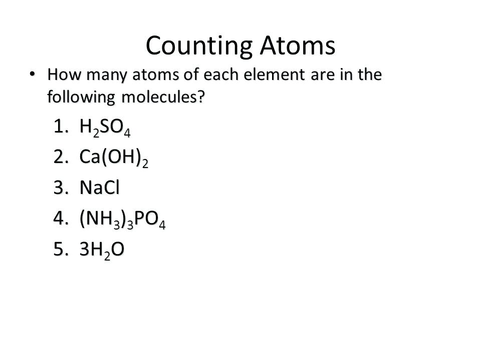 Number Of Atoms In A Formula Worksheet Answers Or 2 Notes Cool