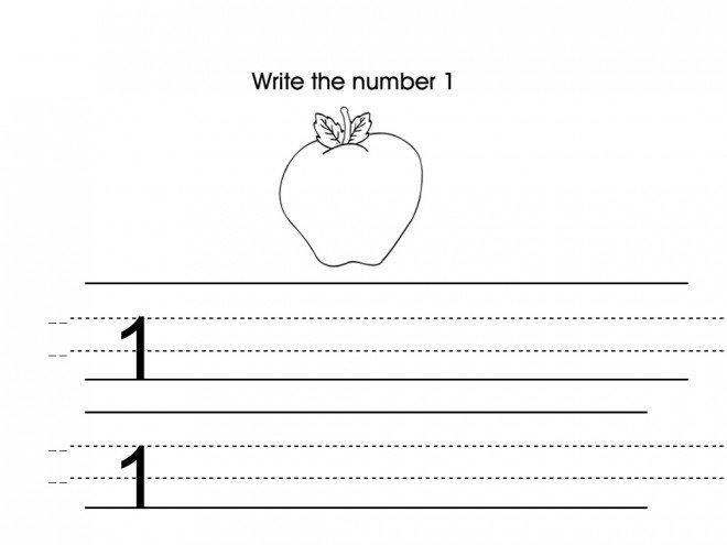 Number One Worksheet Preschool Printable Activities Number 1