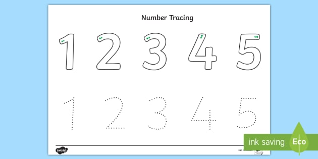 Number Tracing 1