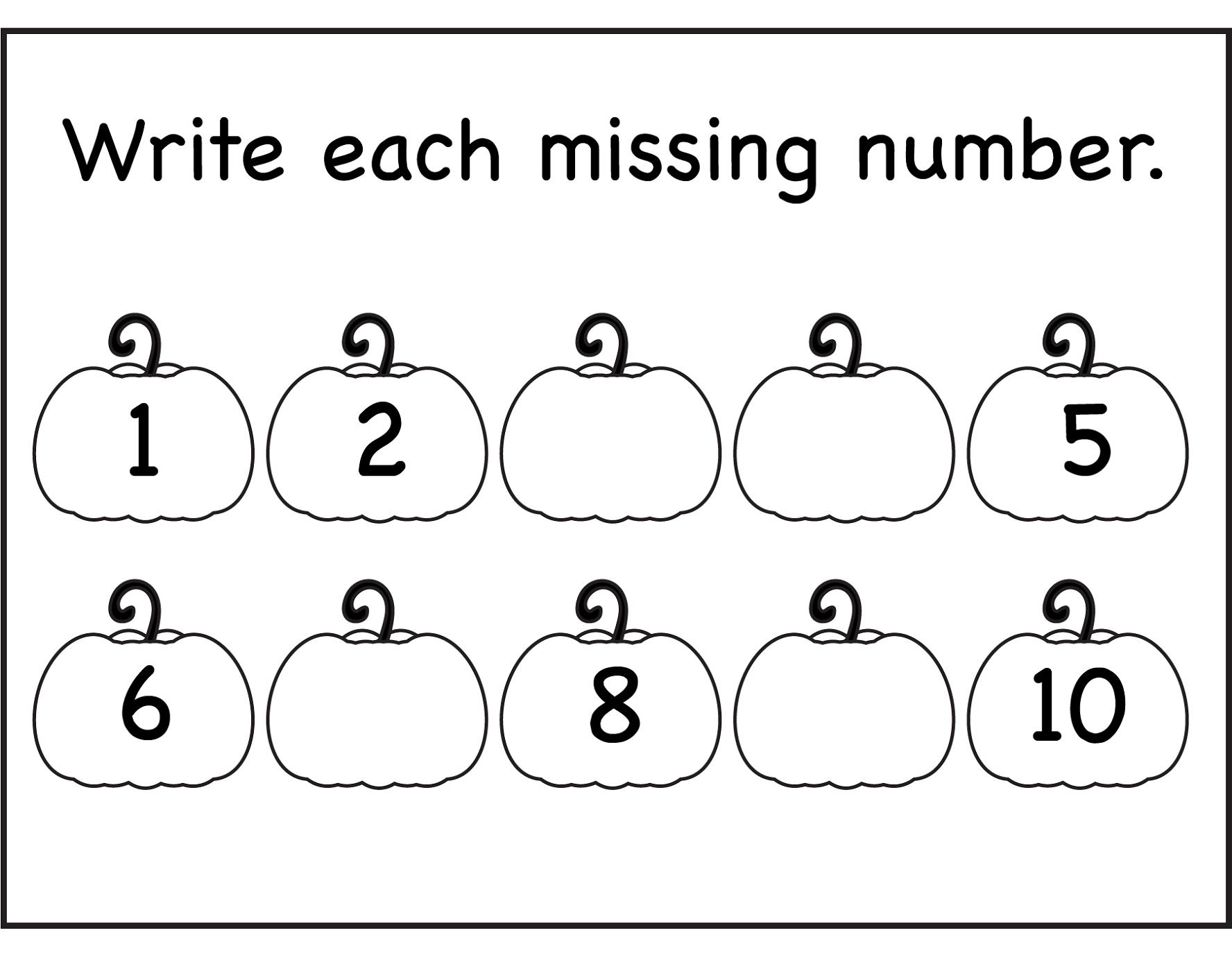 Number Worksheets For Kids The Best Worksheets Image Collection
