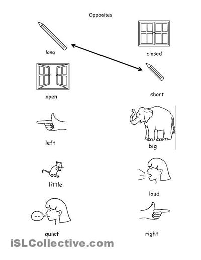 Opposites Activities For Kindergarten