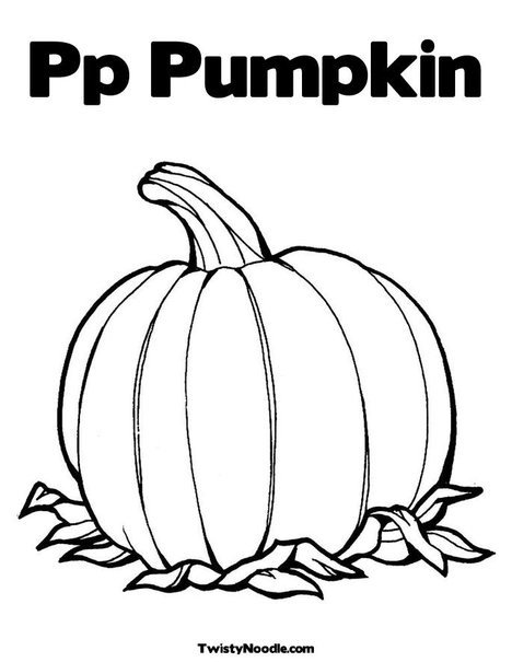 P Is For Pumpkin Coloring Page Pumpkin Template Colouring Pages