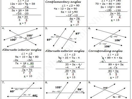 Parallel Lines And Transversals Worksheet Answer Key Parallel