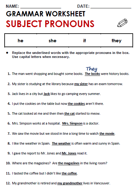 Personal Pronouns Worksheet Pdf The Best Worksheets Image