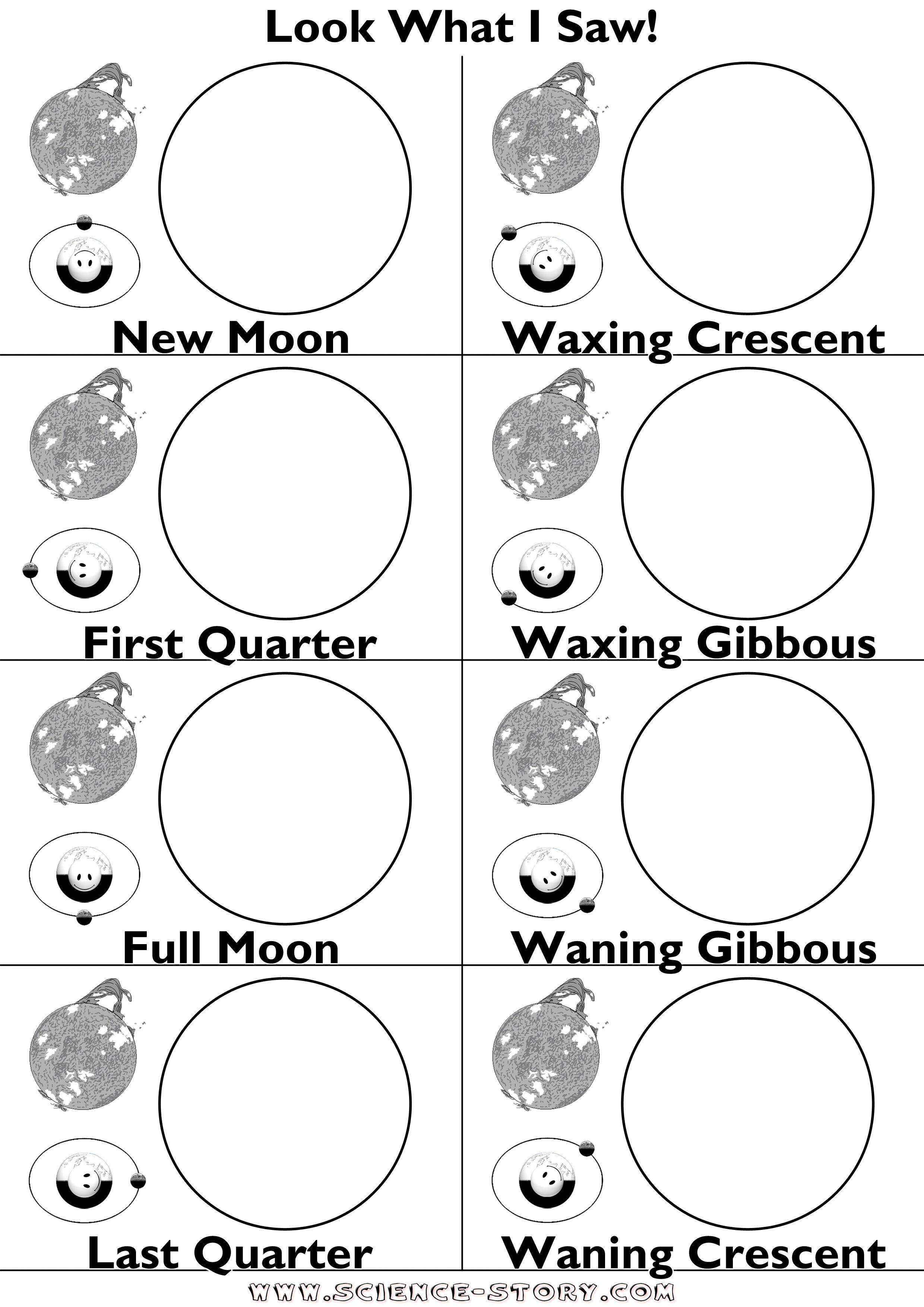 Phases Of The Moon Worksheet The Best Worksheets Image Collection