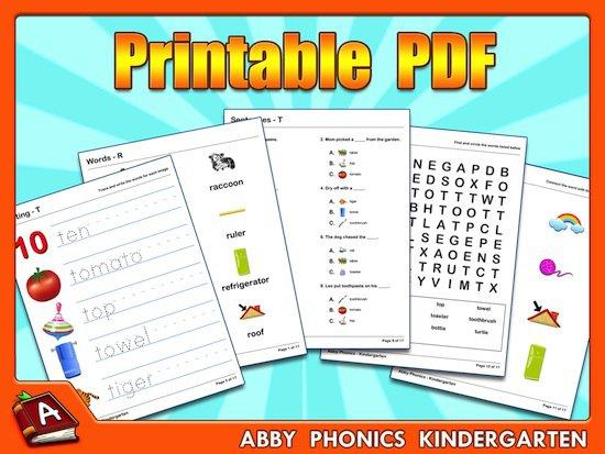 Phonics Worksheets For Kindergarten Pdf The Best Worksheets Image