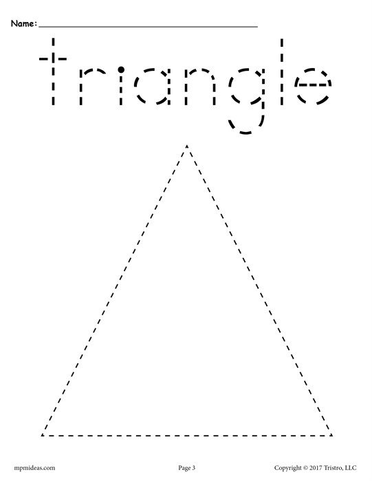 Pleasant Free Tracing Shapes Worksheets For Preschoolers With Free