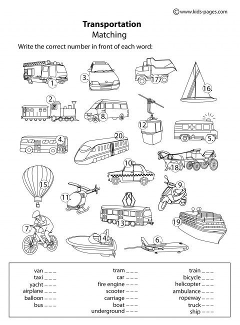 Pleasant Means Of Transport Worksheets Printable About 2929 Best