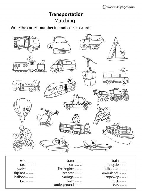 Pleasing Preschool Worksheets About Transportation Also
