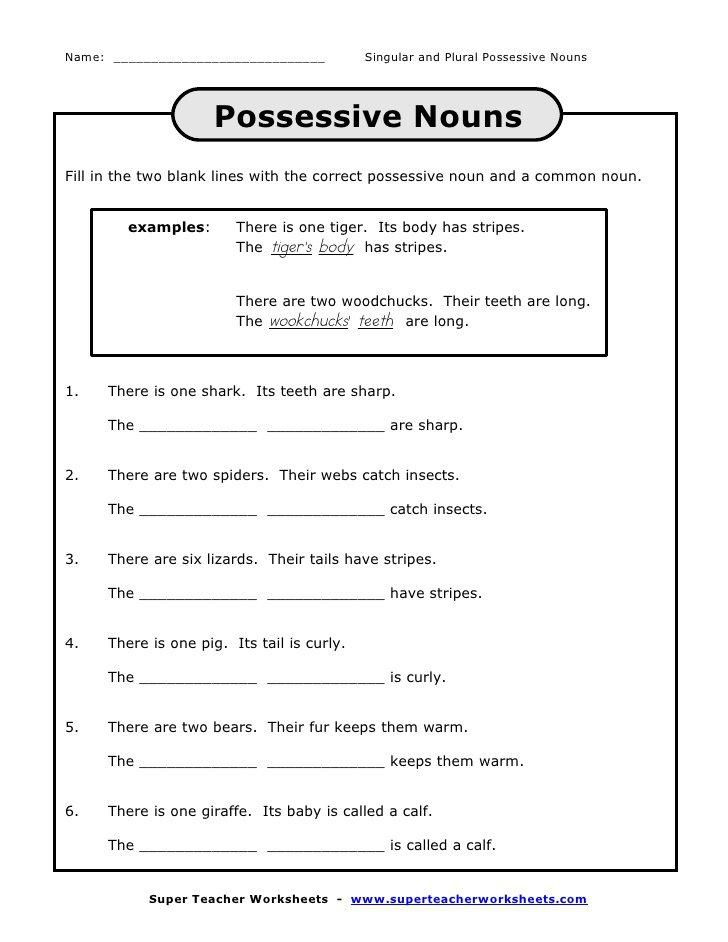 Possessive Pronouns Worksheet 6th Grade The Best Worksheets Image