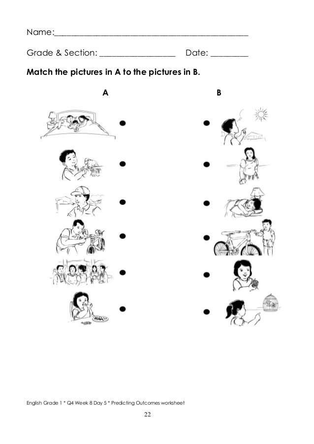 Predicting Outcomes Worksheets