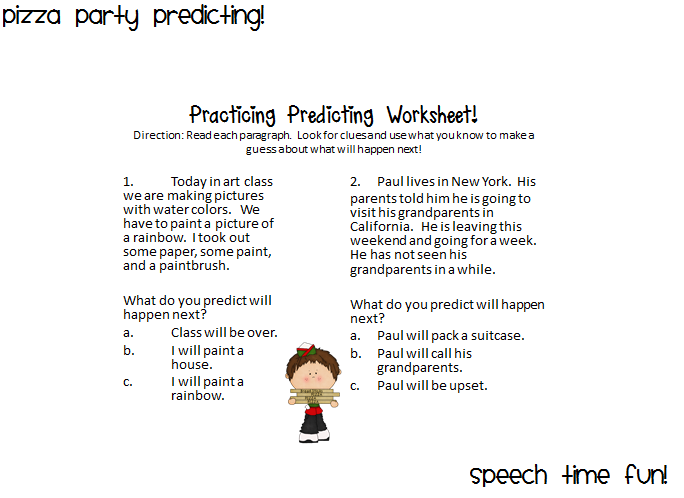 Predicting Outcomes Worksheets Grade 1 The Best Worksheets Image