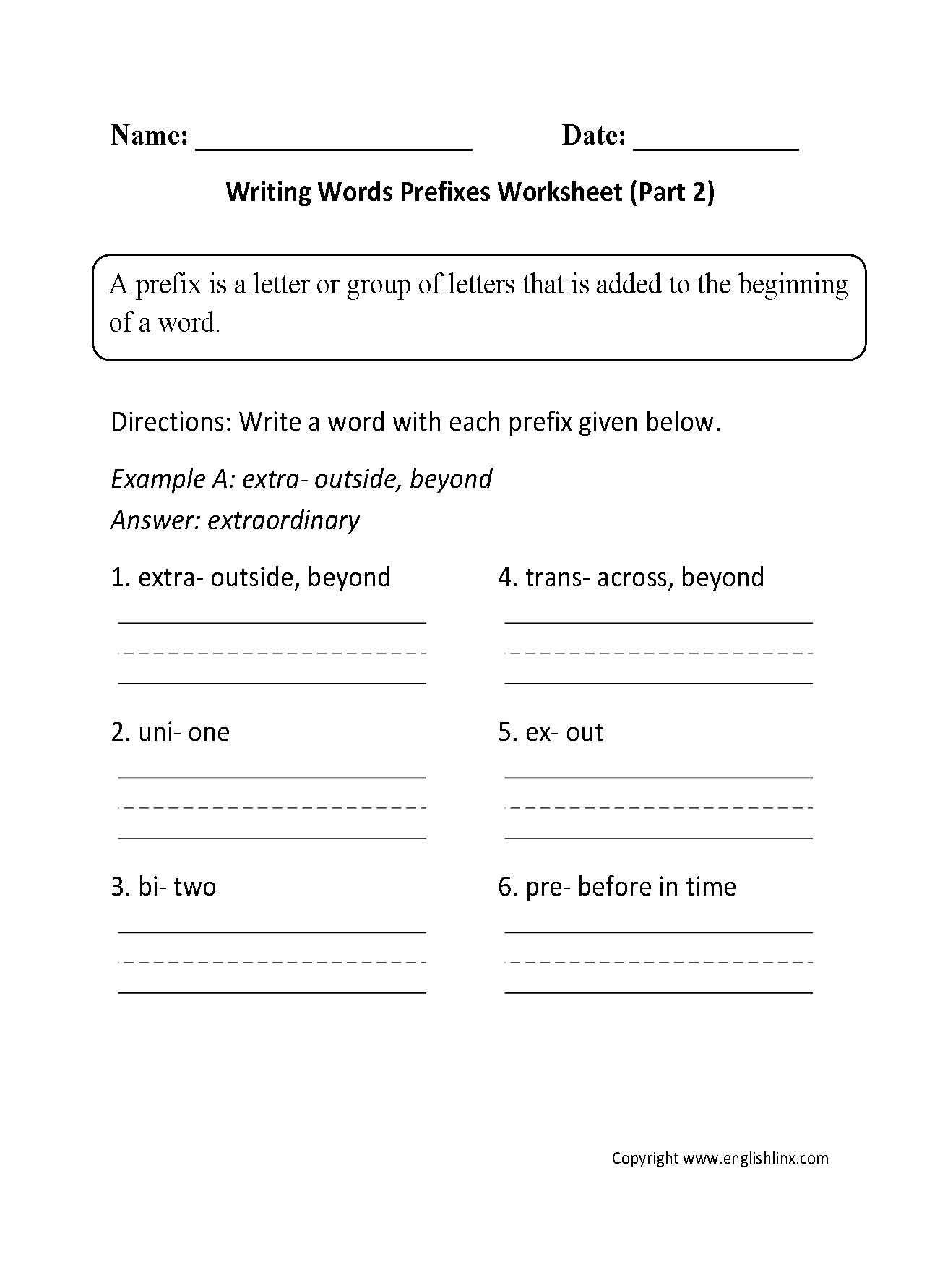 Prefixes Worksheets Middle School The Best Worksheets Image