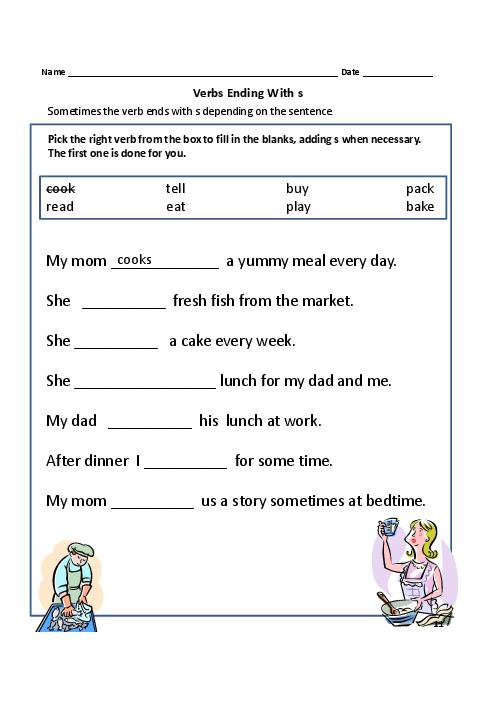 Prepossessing Simple Verb Worksheets For Grade 1 With Additional