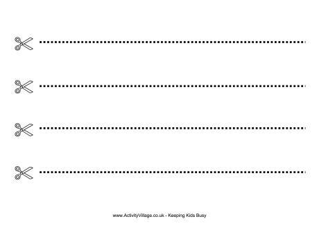 Preschool Cutting Worksheet