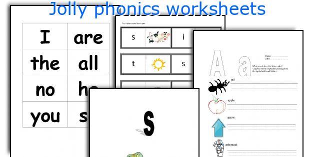Preschool Jolly Phonics Worksheets 33530