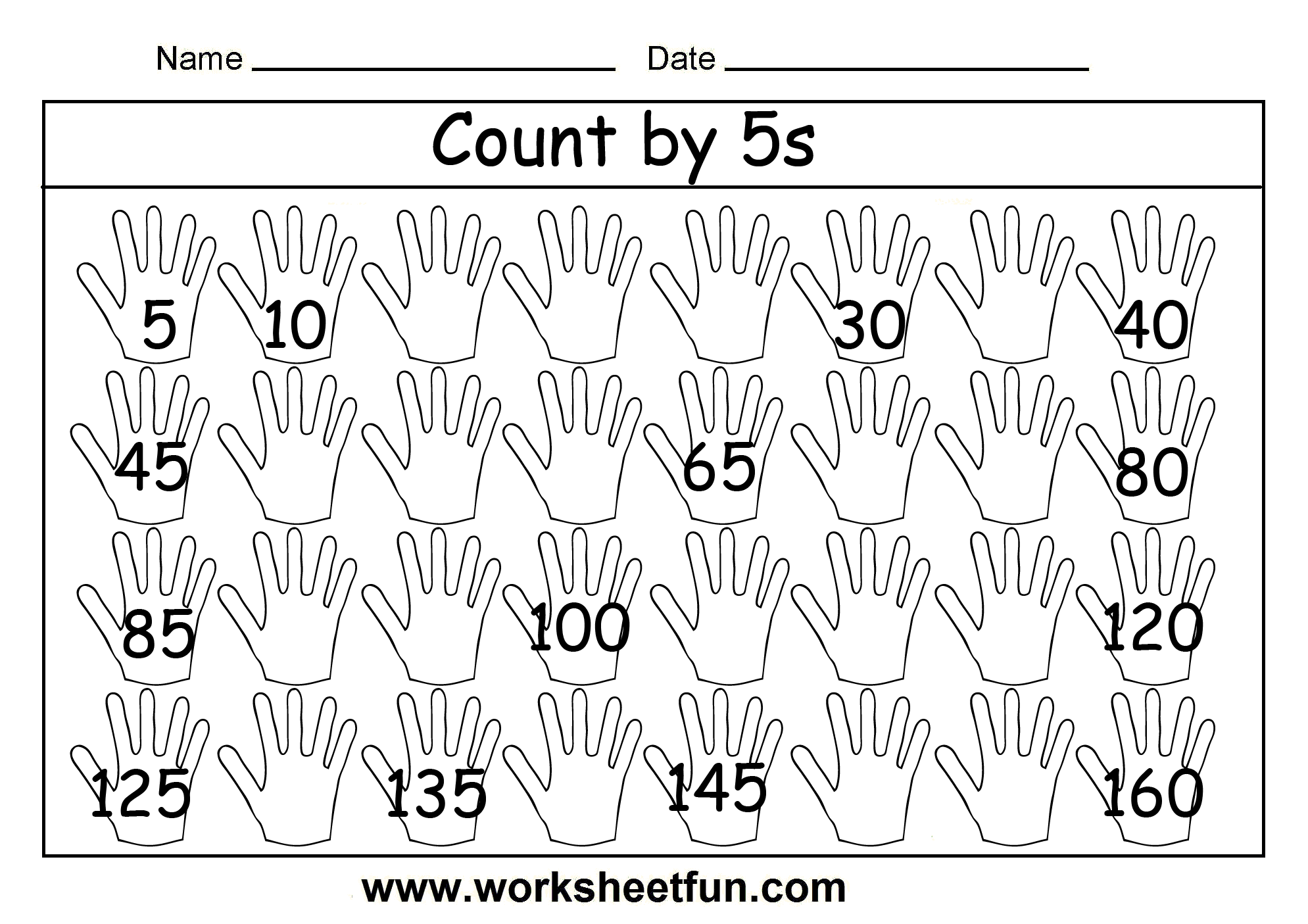 Printable Math Worksheets Counting By 2 369807