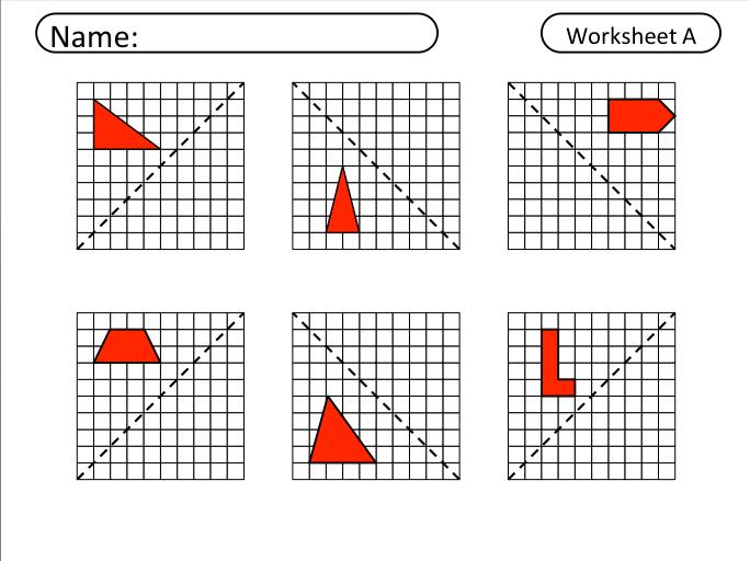 Printable Math Worksheets Reflections 228636