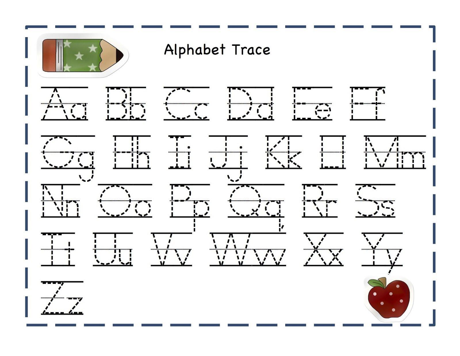 Printable Tracing Letters Worksheet The Best Worksheets Image
