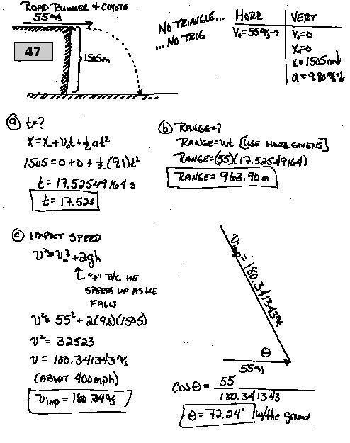 Projectile Motion Worksheet With Answers