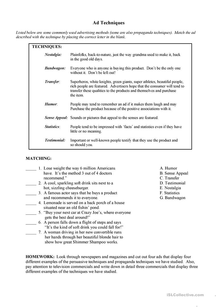 Propaganda Worksheets The Best Worksheets Image Collection