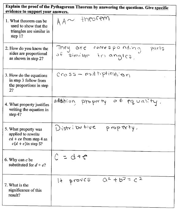 Pythagorean Theorem Word Problems Worksheet Pythagorean Theorem