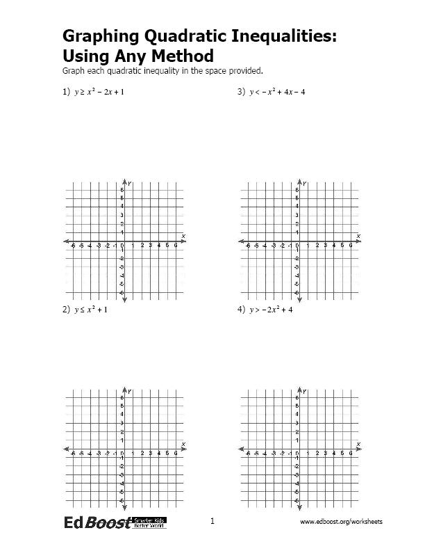 Quadratic Inequality Worksheet The Best Worksheets Image