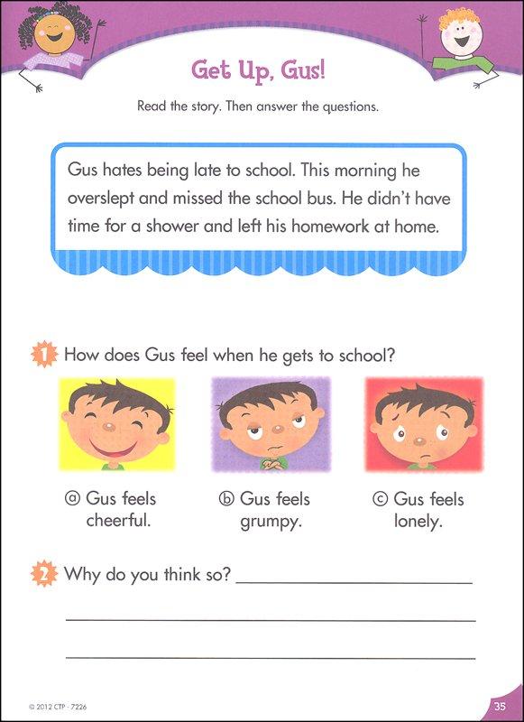 Reading Comprehension  First Grade (stick Kids Workbooks) (025231