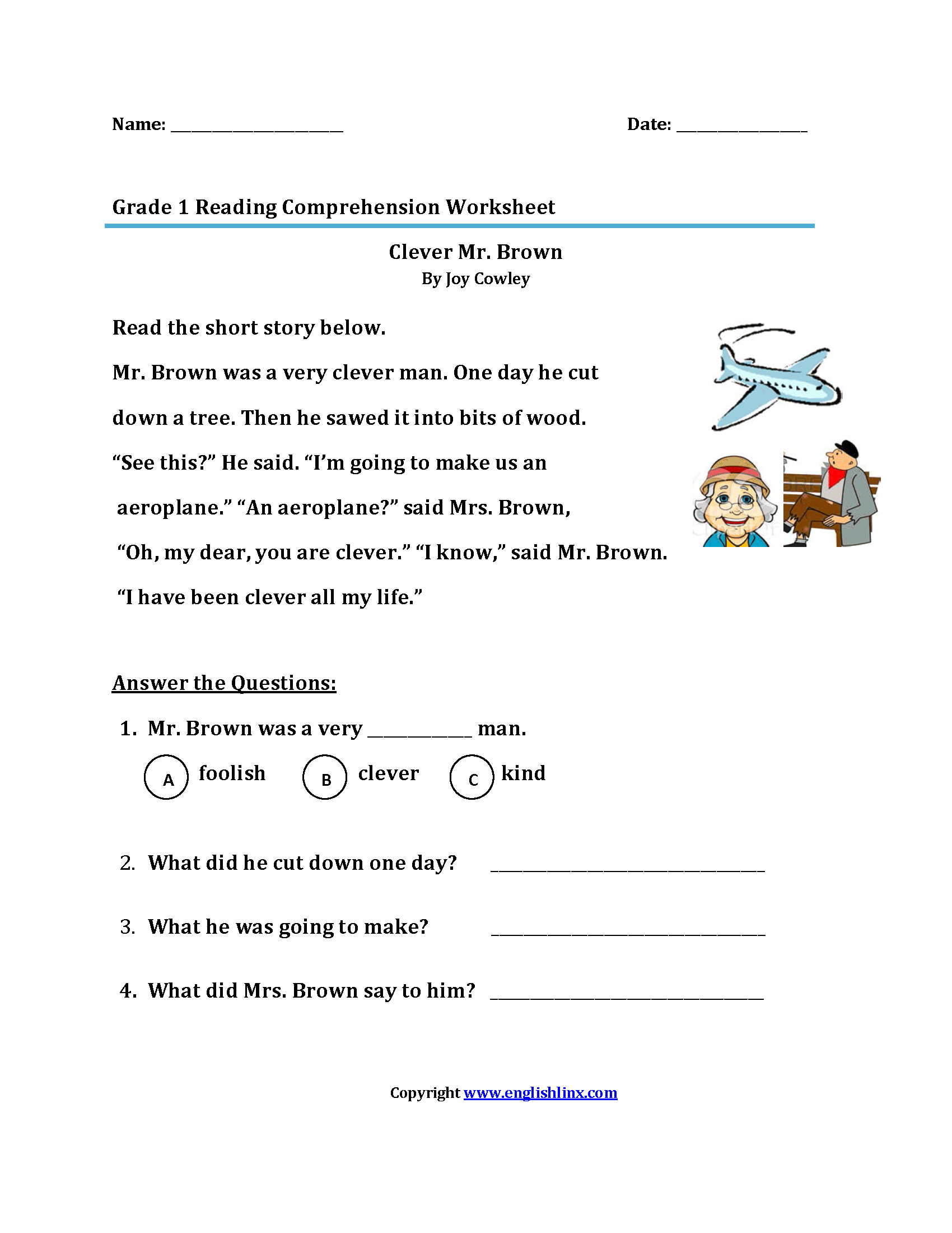 Reading Practice For 1st Grade 50110