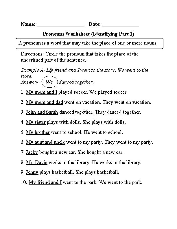 Relative Pronoun Worksheets 4th Grade The Best Worksheets Image