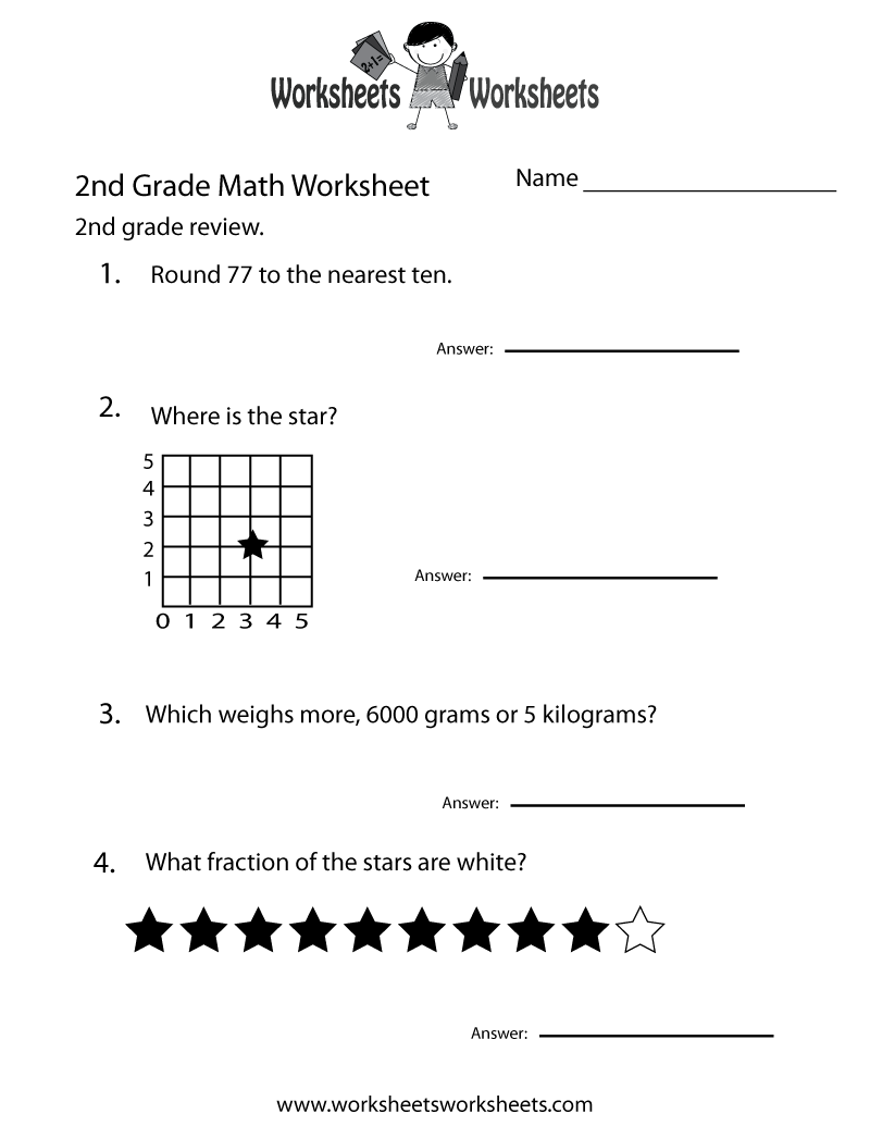 Second Grade Math Worksheets To Print Luxury Worksheet Printable