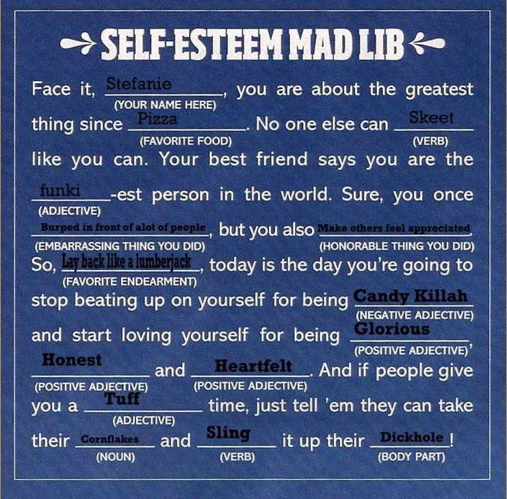 Self Esteem Worksheets Girls