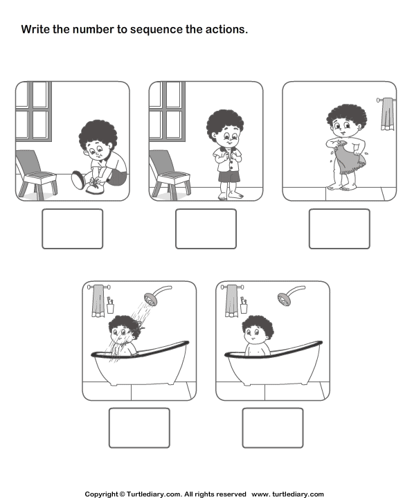 Sequence Worksheets 1st Grade