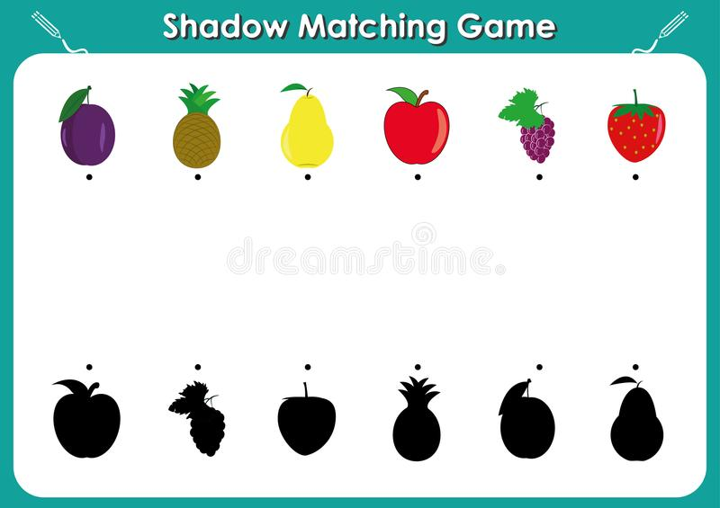 Shadow Matching Game, Activity Page For Kids  Find The Right