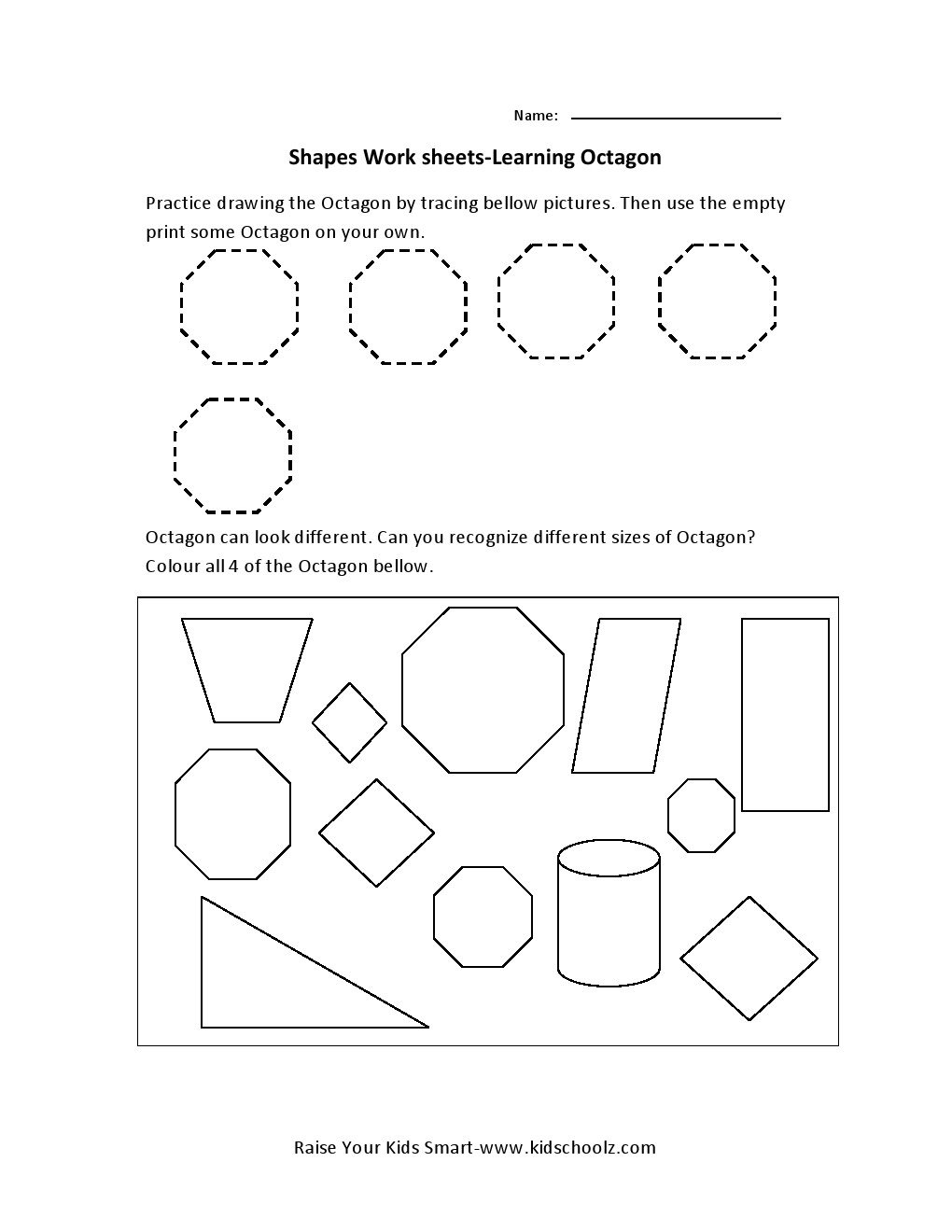 Shapes Preschool Worksheets Choice Image